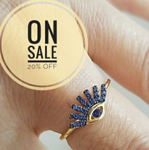 Jewelry - Dainty Gold plated Evil eye Ring size 7